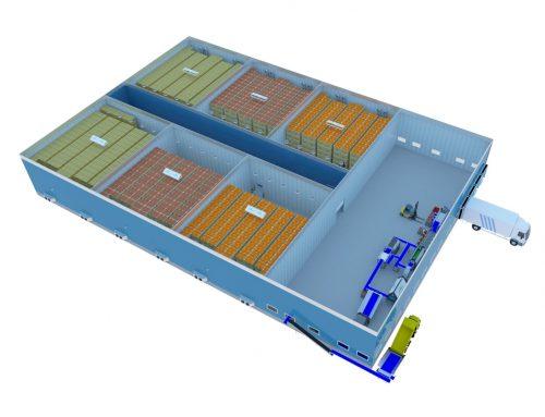 Distribution centre 6000 tons storage