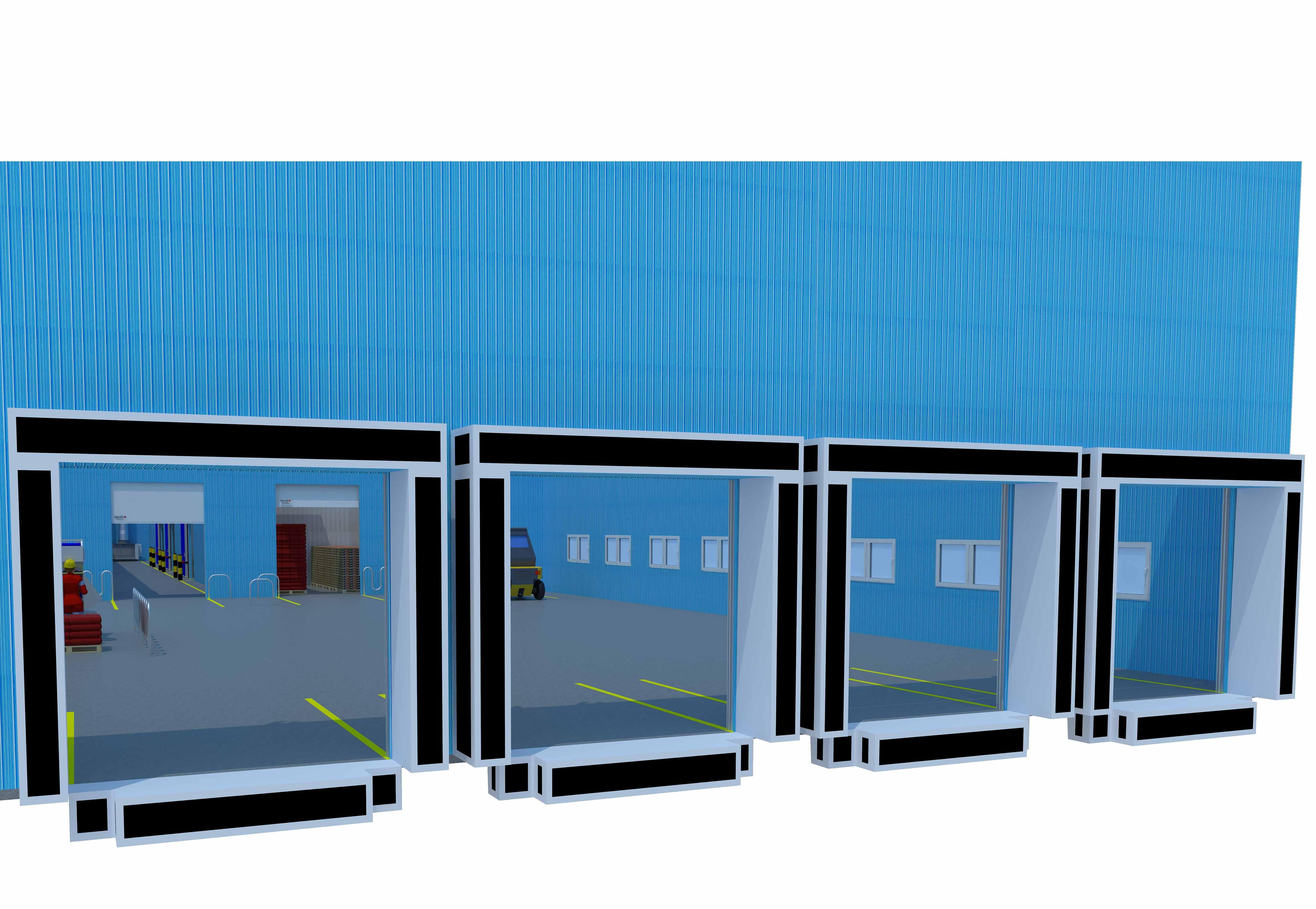 loading dock for vegetable distribution centre