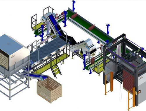 Semi-automatic weighing and palletizing line