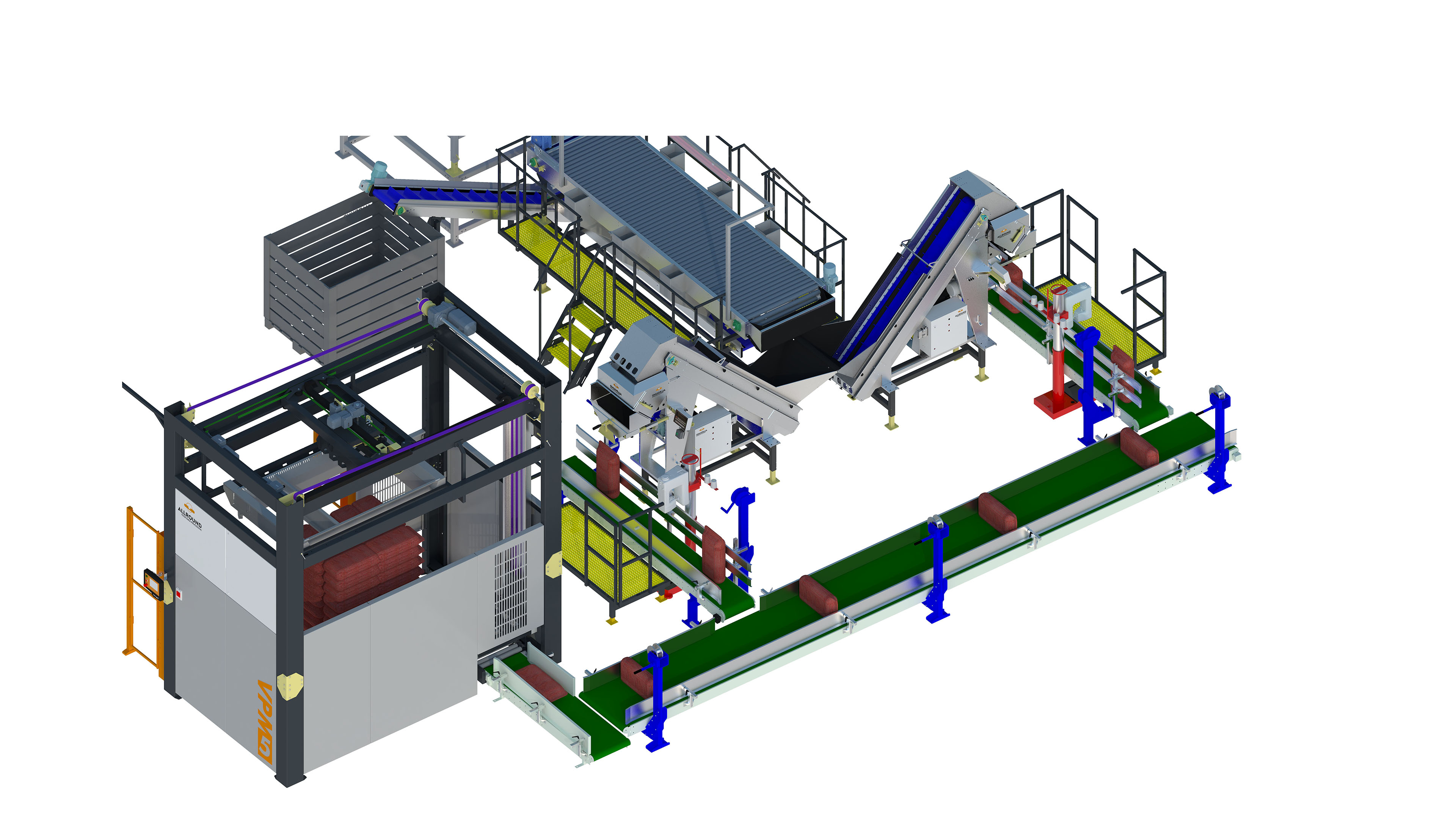 weighing and palatalizing line